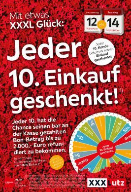 XXXLutz Jeder 10. Einkauf geschenkt!