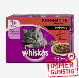 Whiskas Katzenfutter Frischebeutel 12 x 100 g / 12 x 85 g, sort.