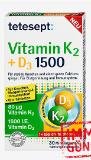 tetesept Vitamin K2 + D3 Tabletten