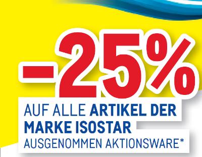 -25 % auf alle Artikel der Marke Isostar