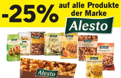 -25% auf Alesto Knabberzeug