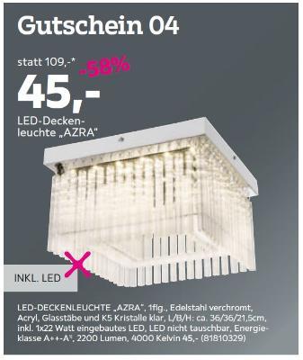 """LED-Deckenleuchte """"AZRA"""""""