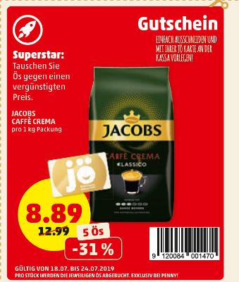 -31% auf Jacobs Caffe Crema Classico