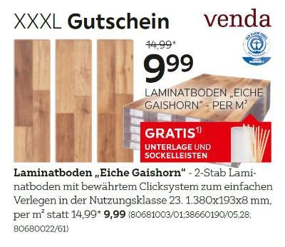 """Laminatboden """"Eiche Gaishorn"""""""