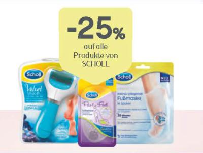 -25% auf alle Fußpflegeprodukte von Scholl