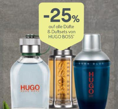 -25% auf alle Düfte & Duftsets von HUGO BOSS
