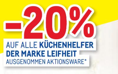 -20% auf alle Küchenhelfer der Marke Leifheit