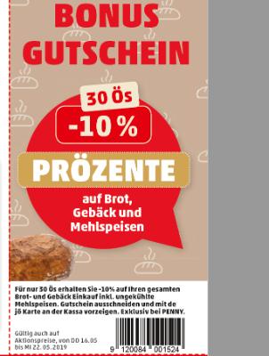 Bonus Gutschein auf Brot, Gebäck und Mehlspeisen