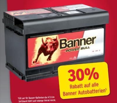 -30% auf alle Banner Autobatterien