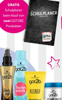 GRATIS Schulplaner beim Kauf von zwei GOT2BE Produkten